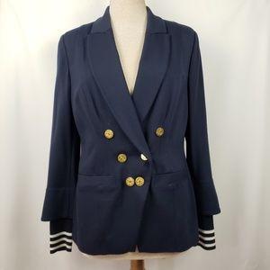 Cabi navy double breasted blazer,size 8, EUC